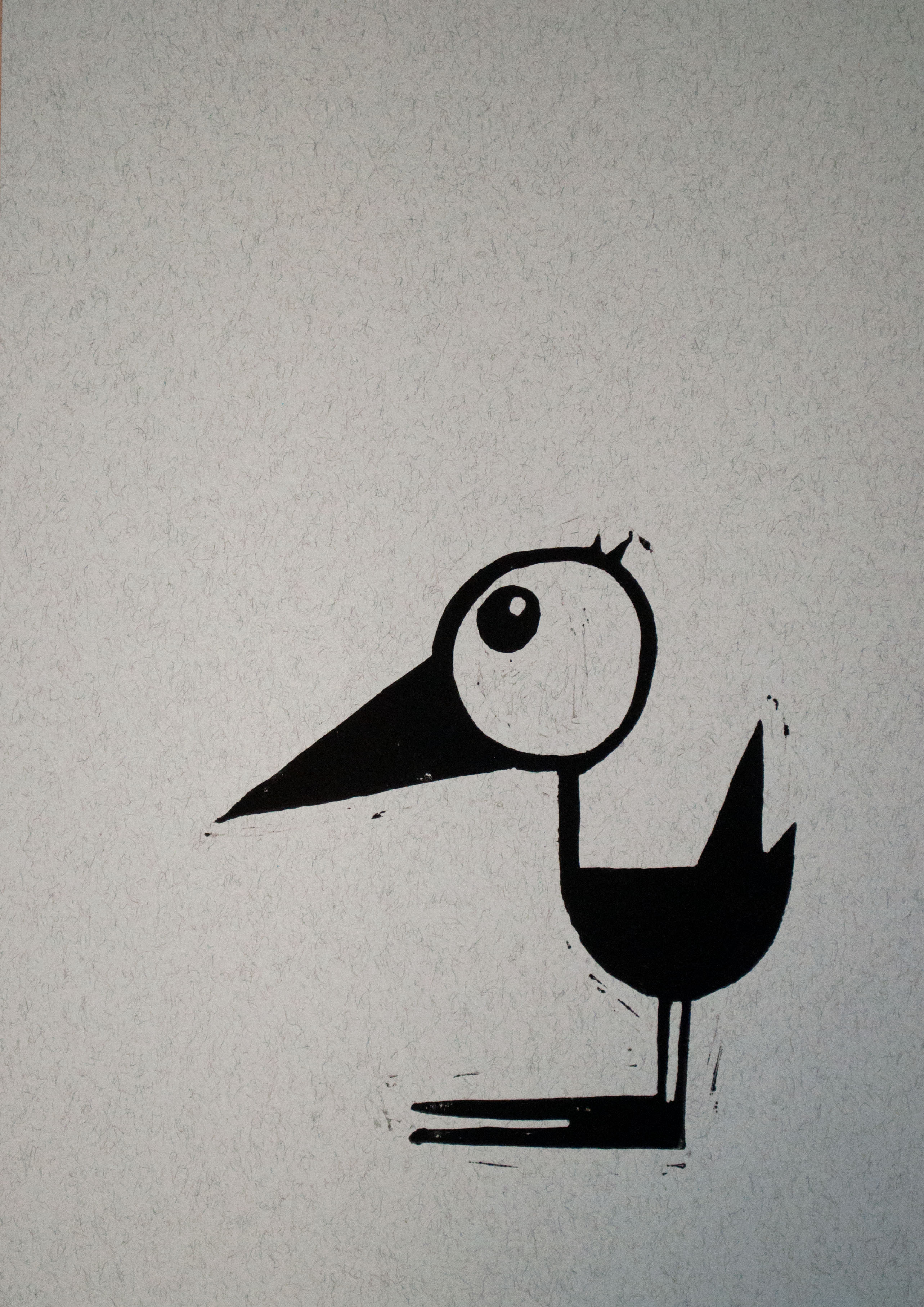 Fugl – lys blå m. sort