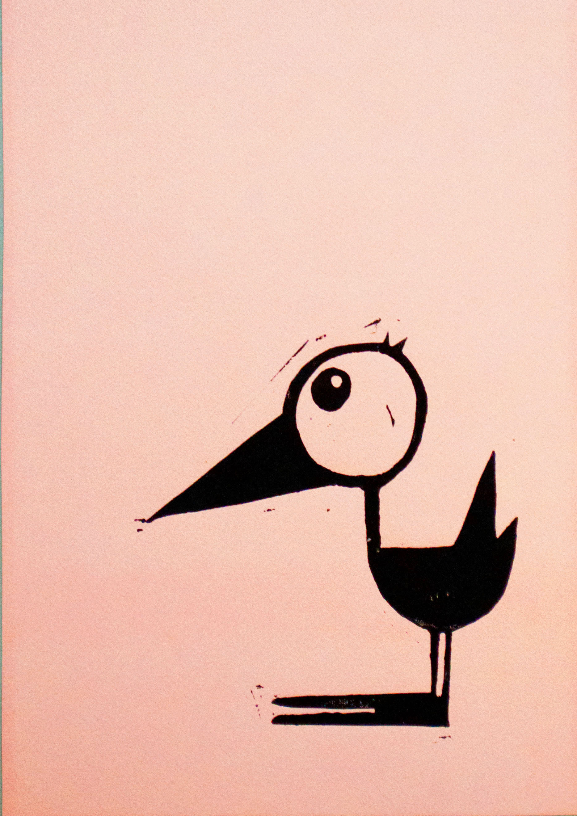 Fugl – rosa m. sort