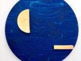 Blå cirkel med rosa// limited edition